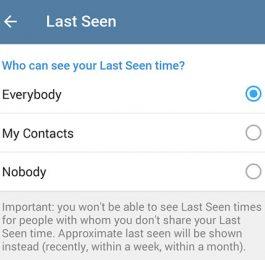 آموزش تنظیمات آخرین حضور در تلگرام (Last Seen)